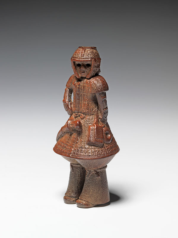 Haniwa warrior netsuke
