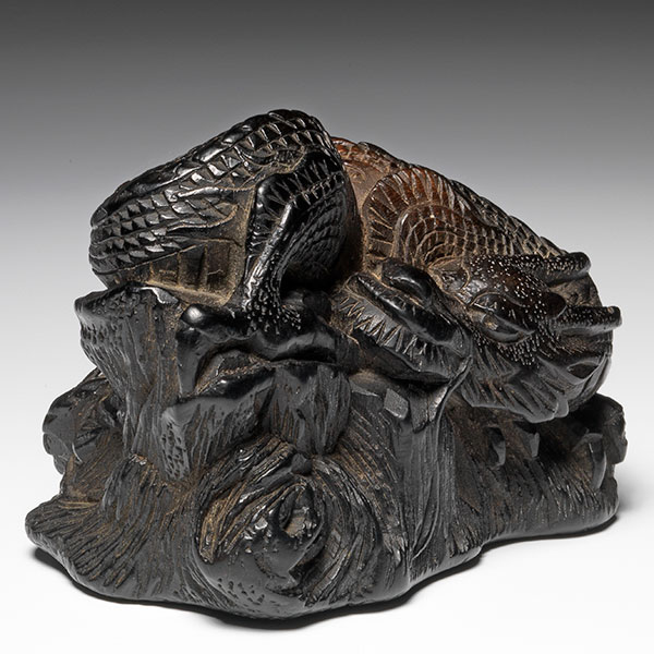 Dragon Rock netsuke by Akishita from Rosemary Bandini
