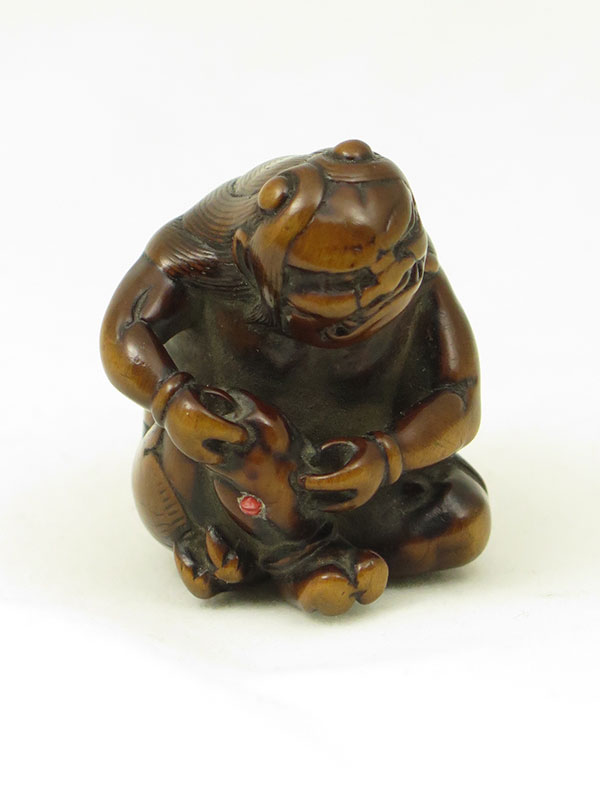 Oni wooden netsuke from Rosemary Bandini