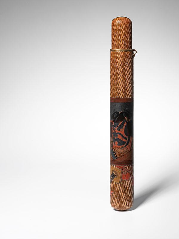 A woven rattan pipe case of musozutsu