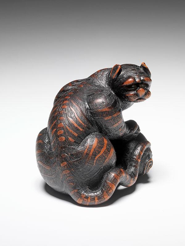 Masahide tiger netsuke