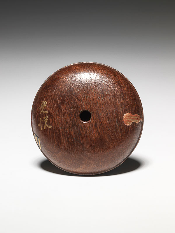 Koetsu two-part manju netsuke