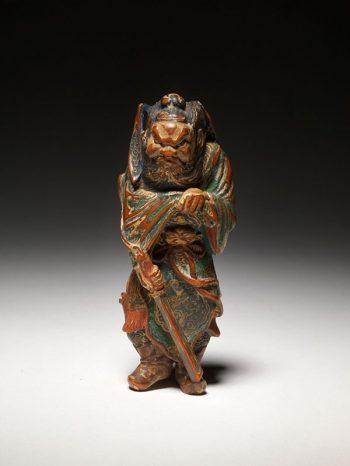 Saishiki netsuke of Shoki the demon queller - Unsigned
