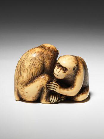 Okakoto - Monkeys netsuke