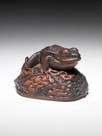 Matsuda Sukenaga (1810-1871) - Frog netsuke