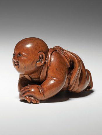 Masanao - crawling baby netsuke