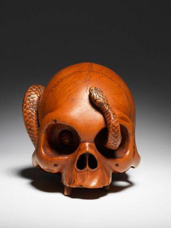 Skull and snake - Chikushun (Takeharu)