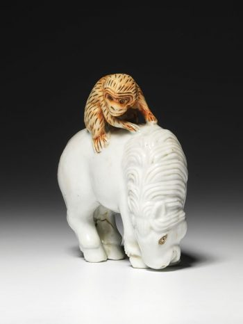 Unsigned - pottery horse netsuke