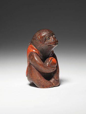 Yoshimoto Nisai - seated monkey netsuke