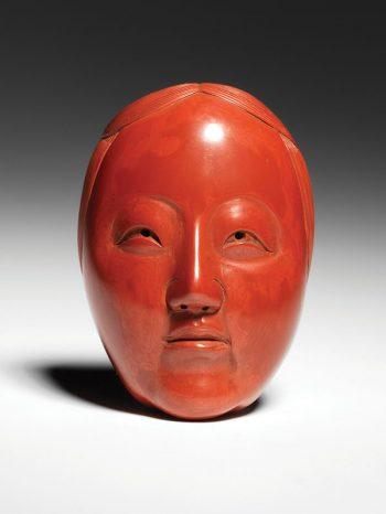 Homin - Zoona mask netsuke