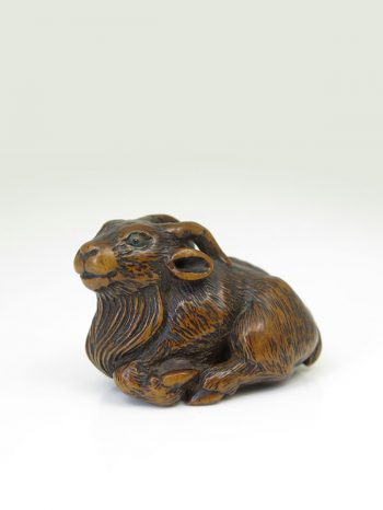 Minko – billy-goat netsuke