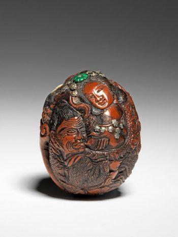 Seimin kurumi nut carving [SOLD]