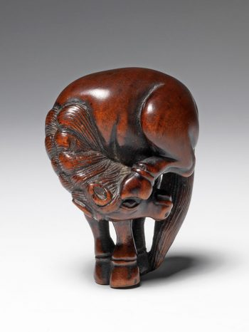 Jushu? - wood netsuke of a horse