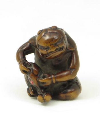 Unsigned netsuke of an oni