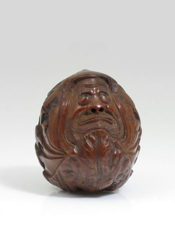 Unsigned – Walnut Daruma